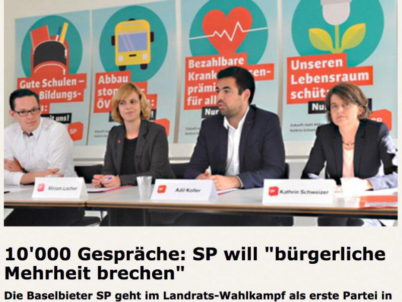 """10'000 Gespräche: SP will """"bürgerliche Mehrheit brechen"""""""