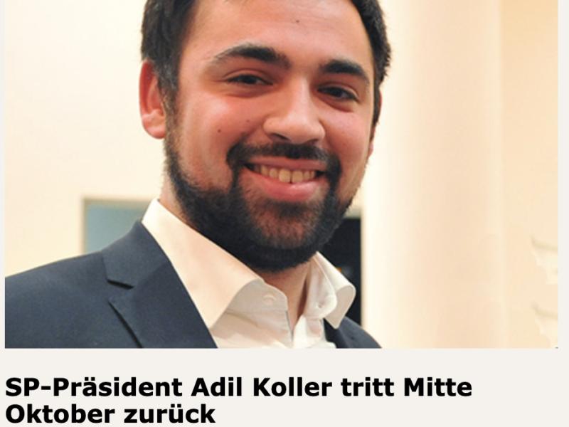 SP-Präsident Adil Koller tritt Mitte Oktober zurück